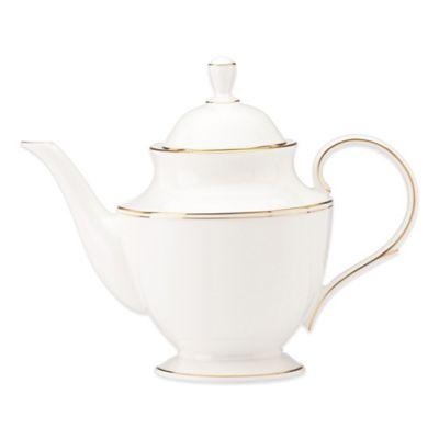 Dishwasher Safe Gold Teapot