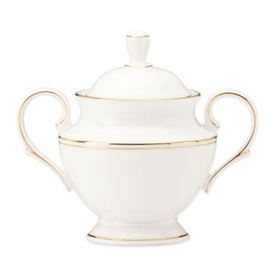 Lenox® Federal Gold Covered Sugar Bowl in White/Gold