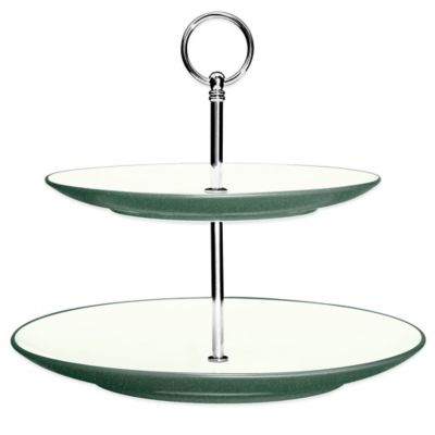Noritake® Colorwave 2-Tier Hostess Tray in Spruce