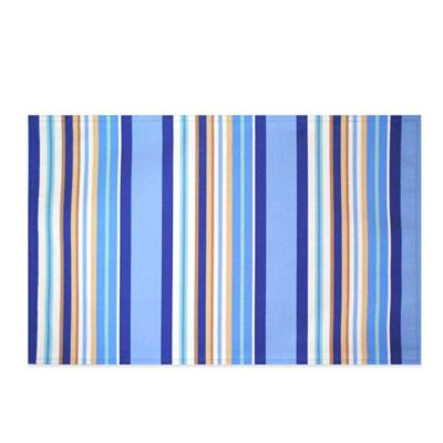 Mystic Stripe Reversible Placemat in Blue
