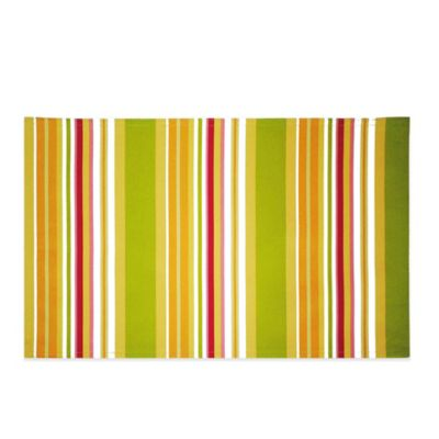 Mystic Stripe Reversible Placemat in Yellow