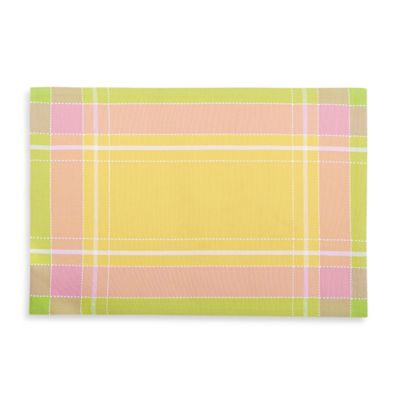 Sam Hedaya Primrose Plaid Placemat