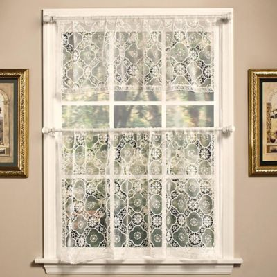 Today's Curtain Richmond Macram 14-Inch Window Valance in White