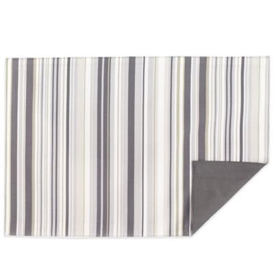 Jelly Bean Stripe Reversible Placemat in Grey