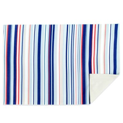 Jelly Bean Stripe Reversible Placemat in Blue