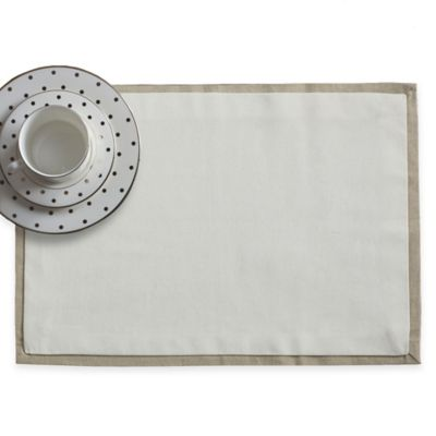 Wamsutta® Bordered Linen Placemat in Natural