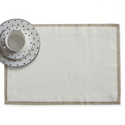 Wamsutta® Bordered Linen Placemat in Sage