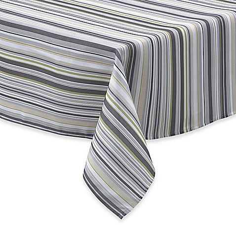 Buy Jelly Bean Stripe 60 Inch X 84 Inch Oval Tablecloth