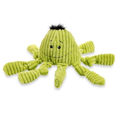HuggleHounds Octo Knotties Dog Toy in Citron
