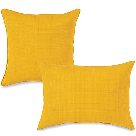 Yellow Decorative Pillows For Bed : Outdoor Throw Pillows in Yellow - Bed Bath & Beyond