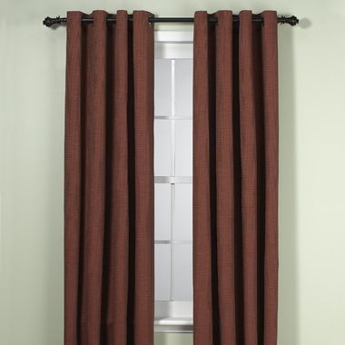 Union Square 72-Inch Grommet Top Window Curtain Panel in Red