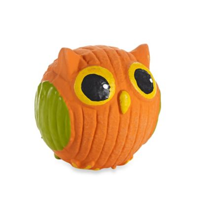 HuggleHounds® Ruff-Tex Poppy the Owl Pet Squeak Dog Toy