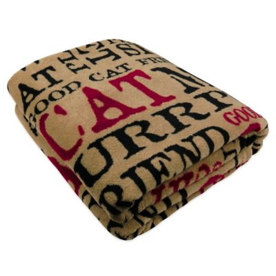 Park B. Smith® World Paws Good Cat Printed Fleece Throw in Multi