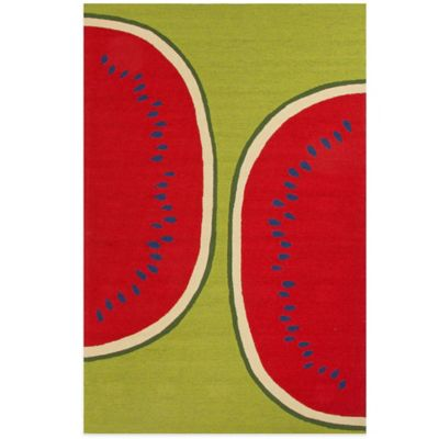Jaipur Watermelon 5-Foot x 7-Foot 6-Inch Indoor/Outdoor Rug