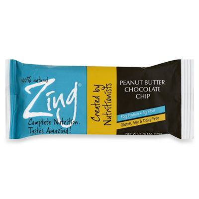 Zing® 1.76 oz. Peanut Butter Chocolate Chip Nutrition Bar