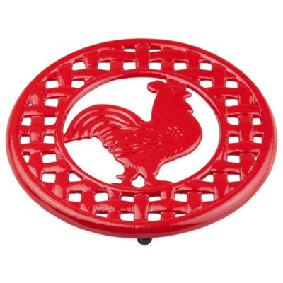 Rooster Trivet in Red