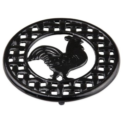 Home Basics® Rooster Trivet in Black