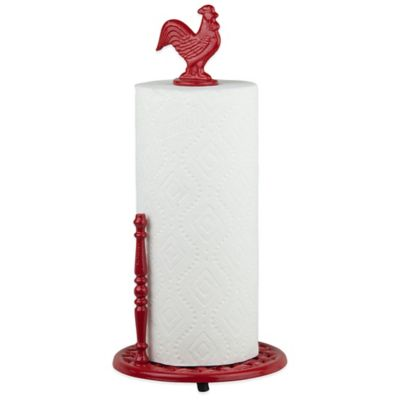 Home Basics® Rooster Paper Towel Holder in Red