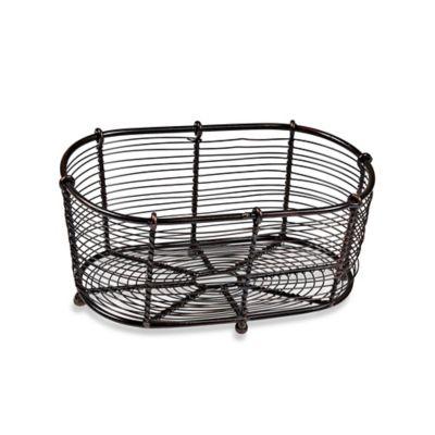 Antique Black Bread Basket