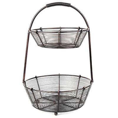 Bobbin Collection 2-Tier Basket