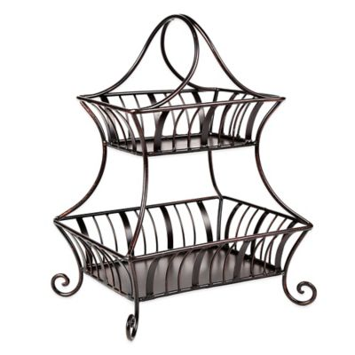 Mesa Delaware Collection 2-Tier Rectangular Basket
