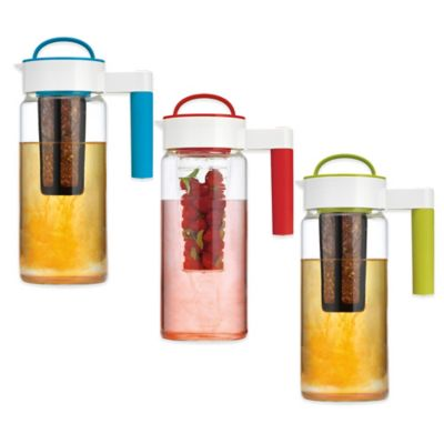 Home Essentials & Beyond 3-in-1 Brewing, Infusing and Chilling Pitcher in Blue