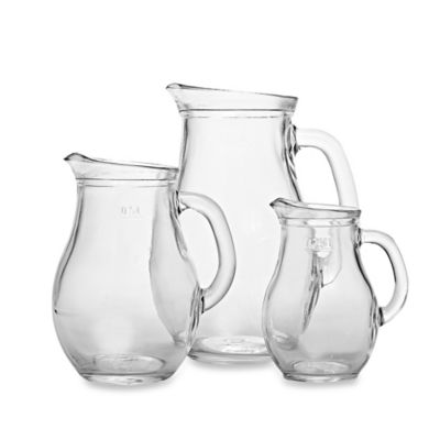 Home Essentials & Beyond Classic Style Glass Pitchers (Set of 3)