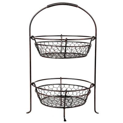 Mesa Coop Collection 2-Tier Fruit Basket