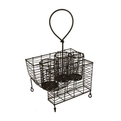Mesa Rustic Wire Collection Picnic Caddy in Nickel
