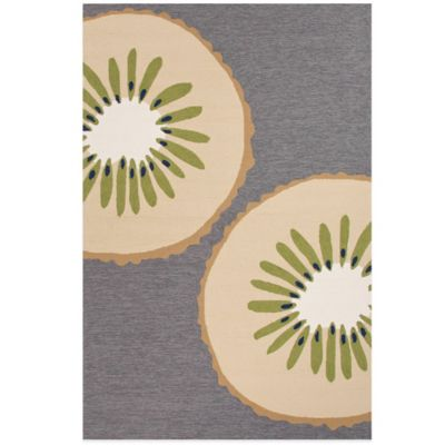 Jaipur Grant Design Kiwi 3-Foot 6-Inch x 5-Foot 6-Inch Indoor/Outdoor Rug