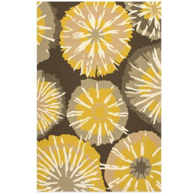 Jaipur Barcelona Starburst 2-Foot x 3-Foot Indoor/Outdoor Rug in Yellow/Grey