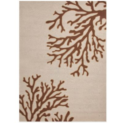 Jaipur Grant Design Bough Out 2-Foot x 3-Foot Indoor/Outdoor Rug in Ivory/Brown