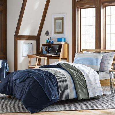 Brett 7-Piece Twin/Twin XL Dorm Kit in Deep Blue