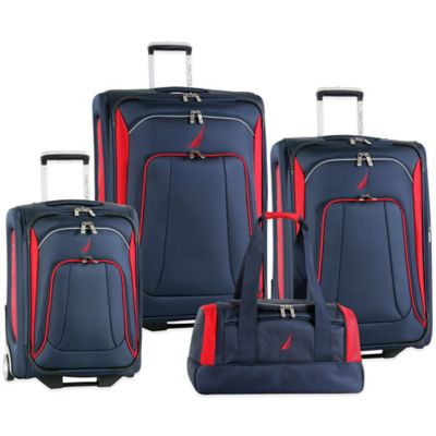 Nautica® Charter 4-Piece Luggage Set in Navy/Red