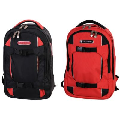 Swiss Cargo TruLite 17-Inch Laptop Backpack in Red/Black