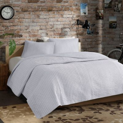 Eco Weave Reece Reversible Full/Queen Quilt Set in Grey
