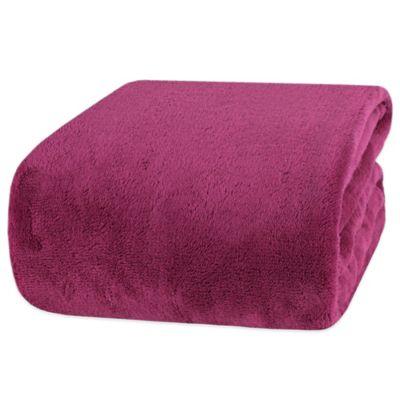 Berkshire Blanket® Shearling Twin/Twin XL Blanket in Purple