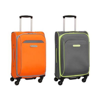 Swiss Cargo TruLite 20-Inch Upright Spinner in Grey/Orange