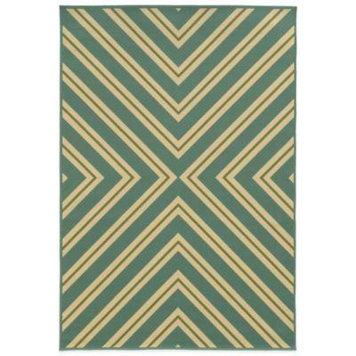 Oriental Weavers Riviera Criss Cross 1-Foot 9-Inch x 3-Foot 9-Inch Rug in Turquoise