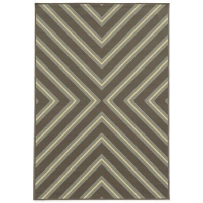 Oriental Weavers Riviera Criss Cross 8-Foot 6-Inch x 13-Foot Rug in Green