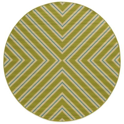 Oriental Weavers Riviera Criss Cross 7-Foot 10-Inch Round Rug in Green