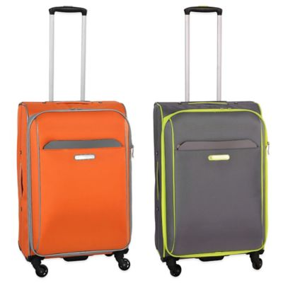 Swiss Cargo TruLite 24-Inch Upright Spinner in Grey/Orange