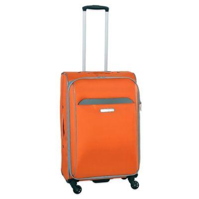 Swiss Cargo TruLite 24-Inch Upright Spinner in Grey/Orange