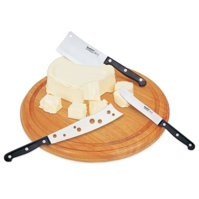 BergHOFF® Studio 4-Piece Cheese Set with Round Cutting Board
