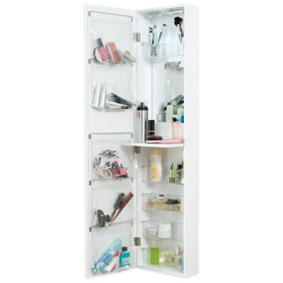 Door Solutions™ Over the Door Mirror and Cosmetic Organizer
