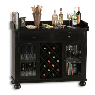 Howard Miller Cabernet Hills Wine & Bar Cabinet in Worn Black