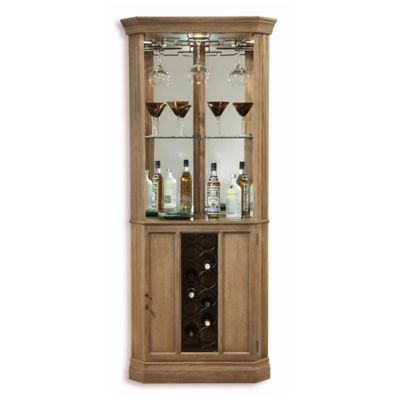 Howard Miller Bairmont Wine & Bar Cabinet in Driftwood