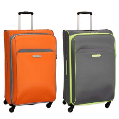 Swiss Cargo TruLite 28-Inch Upright Spinner in Grey Orange