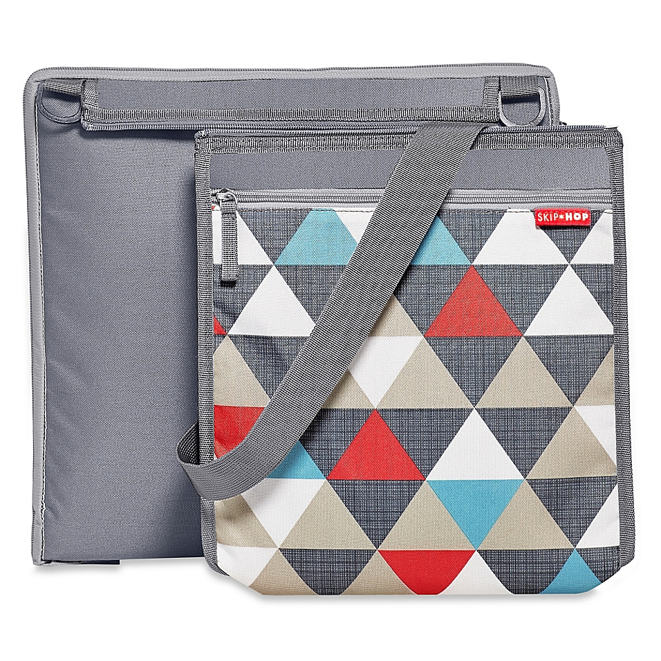 SKIP*HOP® Central Park Outdoor Blanket & Cooler Bag in Triangles Print - buybuyBaby.com