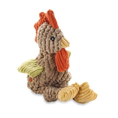 HuggleHounds Knotties Mini Rooster Dog Toy